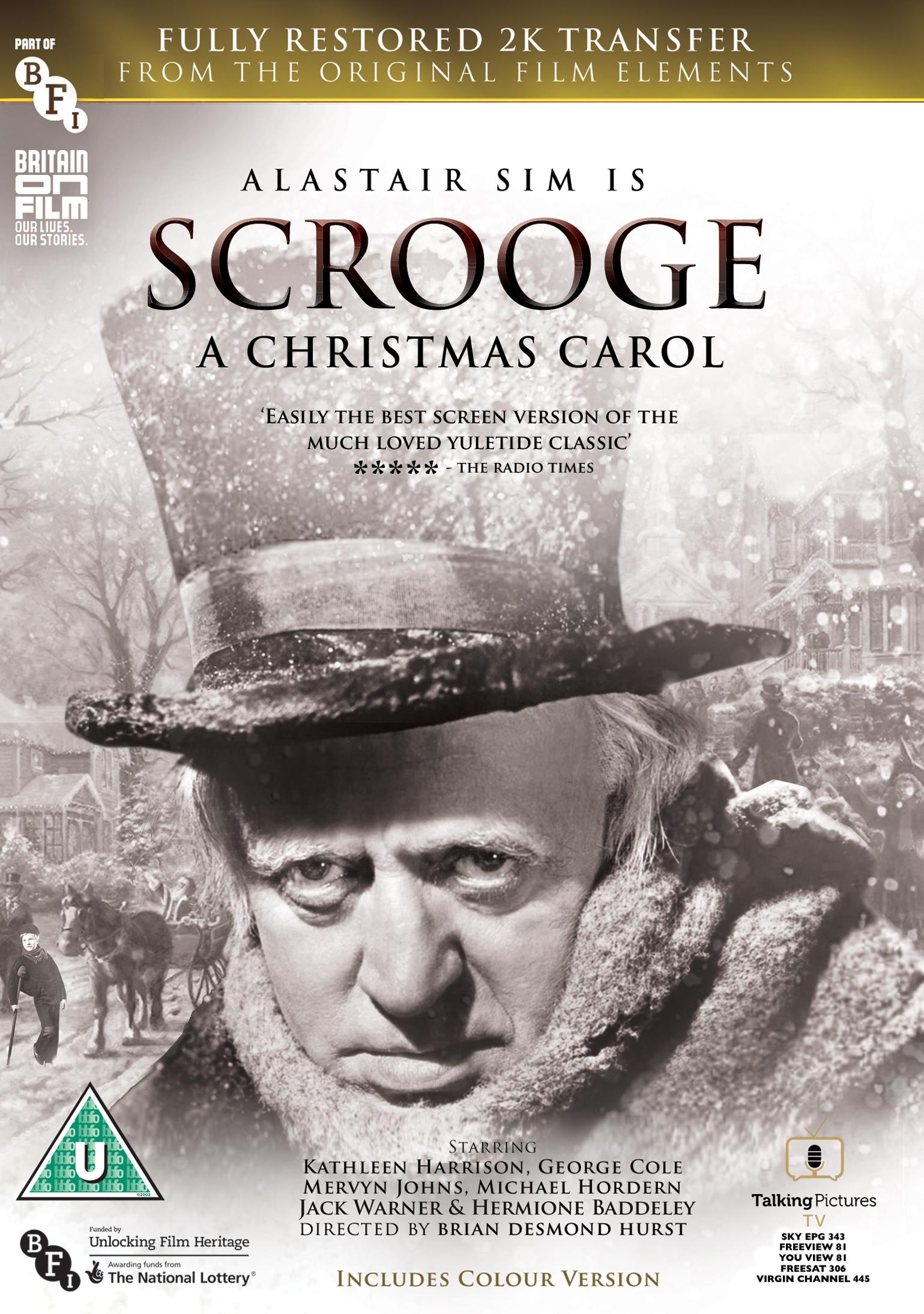 Original Christmas Carol Movie.Scrooge A Christmas Carol Fully Restored 2k Edition